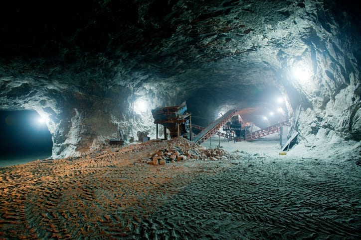 Mine work underground