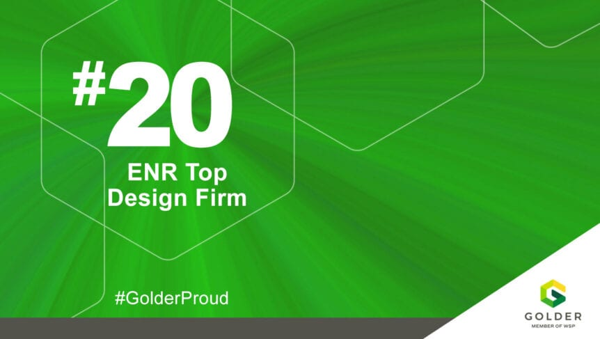 Golder Retains Top 20 Rank in ENR's Top 500 for Fifth Consecutive Year
